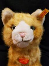 NWT Steiff Standing Kitty Cat Orange Ginger Green Eye 074943