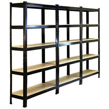 3 Racking Storage Shelving Heavy Duty Garage 5Tier 75cm Steel Shelves Warehouse