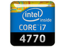 "Intel Core i7 4770 1""x1"" Chrome Domed Case Badge / Sticker Logo"