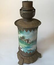 Vintage/Antique Porcelain Table Lamp with Brass Base