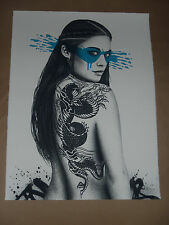 Fin Dac Senaka Hand Embellished signed numbered art screen print poster COA