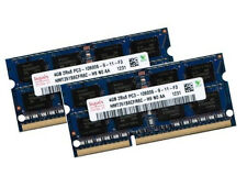 2x 4gb 8gb KIT ddr3 1333 MHz Notebook così DIMM RAM pc3-10600s Laptop 1.5v Hynix