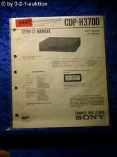Sony Service Manual CDP H3700 CD Player (#2407)