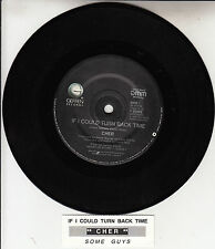 """CHER  If I Could Turn Back Time & Some Guys 7"""" 45 record + juke box title strip"""