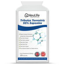 Tribulus Terrestris 95% Saponins 500mg x 120 Capsules Testosterone Booster