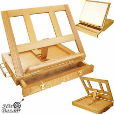 Folding Wood Artist Easel Table Top Painting Art Drawer Stand Portable Mini Desk