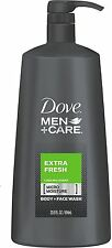 Dove Men + Care Body + Face Wash, Extra Fresh 23.5 oz (Pack of 4)