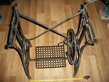 Antique Industrial Cast Iron Table Legs White USA Treadle Sewing Machine Base