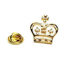 GOLDEN PLATED FLAT CROWN DESIGN bavero pin badge regali per lui