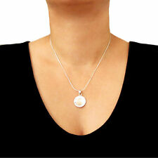 Circle Solid 925 Sterling Silver and Copper Chain Necklace