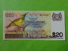 Singapore $20 Bird 1979 (UNC) (Mr Hon Sui Sen & Seal), A/76 445296