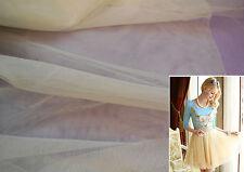 Champagne ivoire doux tissu de tulle pour robe de bricolage 160cm wide.sold par 1 / 2m