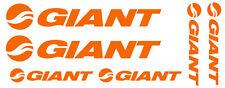6 pegatinas de vinilo Naranja fluorescente Giant  para bicicleta,  no 601