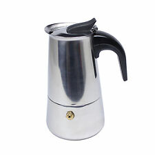 4 cup stainless steel Italian Moka Express Coffee Latte Maker Pot HJ360B