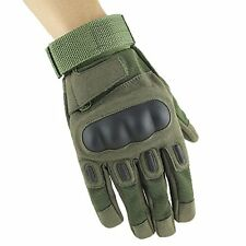 Tirain Full Finger Multifunction Glove for Airsoft Hunting Shooting (M, Army