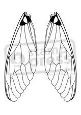 A7 'Insect Wings' Unmounted Rubber Stamp (SP003013)