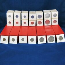 700 Cardboard 2x2 Coin Holder Mylar Flips Cent - Silver Dollar + 7 Storage Boxes