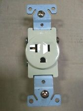 (10 pc) Single Receptacle 20 Amp 20A 125V AC Outlet 2 Pole 3 Wire Ivory