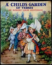 A CHILD'S GARDEN OF VERSES ~1920's Children's Softcover Book ~ 12 Color Plates
