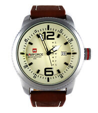 Neat MILITARY 48mm Army Navy Pilot Aviator Sport Boat Date Quartz Steel Watch