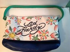 ED HARDY by CHRISTIAN AUDIGER AMANTHA Floral Purse