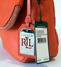 NEW with TAGS Ralph Lauren SUNKIST ORANGE Harrington SHOULDER BAG Designer NWT