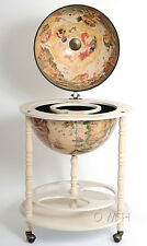 Globe drink cabinet 17 3/4 inches - white NG002