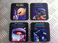 Atari 2600 Cartridge Coasters wooden coaster set brand new atari woody
