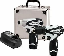 Makita Drill Driver Impact Cordless Kit 12 Volt Lithium Ion 2 Piece Combo New