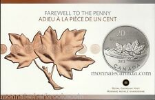 2012 Canada $20 Dollars Fine Silver Coin -  Farewell to the Penny - A417 -NO TAX