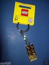 LEGO Keychain 850808 Key chain 2015 - Gold Brick Block Piece New