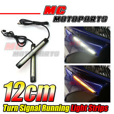 Front Fairing Turn Signal LED Strip Lights 120mm For Universal Suzuki Motorcycle