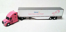 WALMART PINK FIGHT CANCER FREIGHTLINER EVOLUTION CAB  & 53' VAN TONKIN PEM 1/64