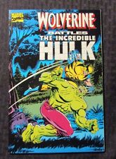 1989 WOLVERINE BATTLES THE INCREDIBLE HULK 1st Printing VF+ 8.5 Reprints 180-181