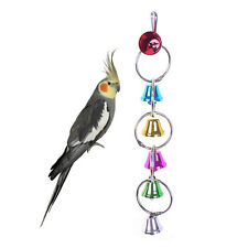 Colorful Metal Bells Ringer Bird Toy Parrot Cockatiel Harness Hanging Cage Toys
