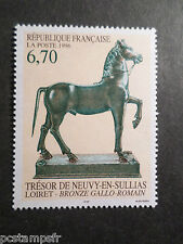 FRANCE 1996 timbre 3014, BRONZE GALLO ROMAINE CHEVAL, ART, neuf**, MNH STAMP