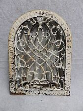 Small Antique Cast Iron Arch Top Dome Heat Grate Wall Register Old Vtg 5045-15