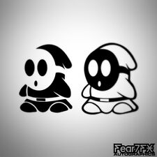 2x shy guy mario voiture decal sticker jdm euro portable snes mobile porte jeu wii 3DS