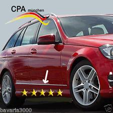 Chrom Edelstahl Seitenzierleisten Türleisten Mercedes C-Klasse W204 W 204 S204