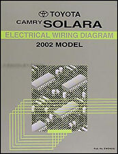 2002 Toyota Camry Solara Electrical Wiring Diagram Manual OEM Schematic Book