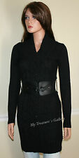 NEW Guess Logo Belted Sweater Dress Tunic Top Black, NWT, Size S