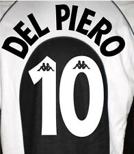JUVENTUS DEL PIERO KIT NAME SET HOME NOME NUMERO KAPPA JUVENTUS 97-98