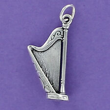 Harp Charm Sterling Silver 925 for Bracelet Music Strings Pedal Large NEW