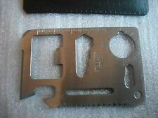 Micro multitool steel credit card utility keyring accessory tool camping opener