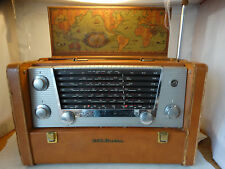 Antique RCA Victor 7 Band SHORTWAVE Tube RADIO Model 7-BX-10 Works