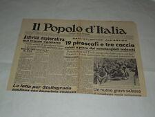 GIORNALI DI GUERRA RARI-IL POPOLO D'ITALIA-DALL'ATLANTICO ALL'ARTICO-19 PIROSCAF