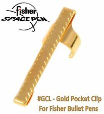 Fisher Space Pens #GCL / Bullet Series Gold Pocket Clip