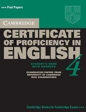 Cambridge Certificate of Proficiency in English 4 Student's Book with Answers (C
