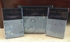 RALPH LAUREN HOME INDIGO MONTAUK FLORAL 3PC KING DUVET COVER & SHAM SET ~NIP 1ST