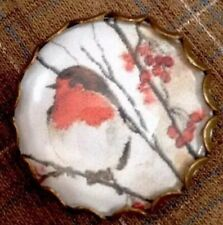 Vintage Style Scottish Robin Bird Collectors Scottish Hand Made Brooch